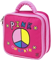 Pink on Earth Square Lunch Bag by Four Peas