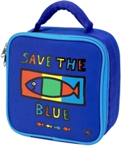 Save the Blue Square Lunch Bag by Four Peas