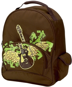Rocker Full Size School Backpack by Four Peas