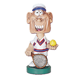 Bobblehead Male Tennis Player