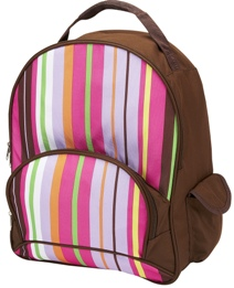 Spunky Stripe Full Size School Backpack by Four Peas