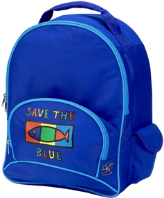 Save the Blue Full Size School Backpack by Four Peas