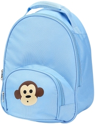 Light Blue Monkey Toddler Preschool Backpack by Four Peas