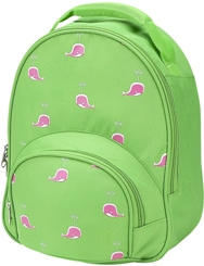 Pink Whale Lime Toddler Preschool Backpack by Four Peas