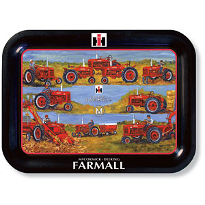 Farmall Tractor Wish List Metal Tray