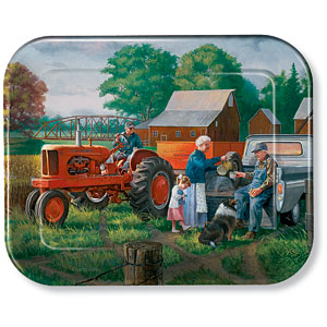 Grandpa's Farm Allis-Chalmers Metal Tray
