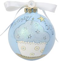 Cute as a Button Birthday Boy Ornament