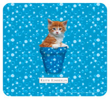 Keith Kimberlin kitten in Blue Pot Mousepad