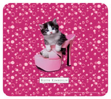 Keith Kimberlin Kitten in Pink Heel Mousepad