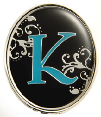 """K"" Monogrammed Key Finder - Finders Key Purse-Disc"