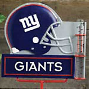 New York Giants NFL Rain Gauge