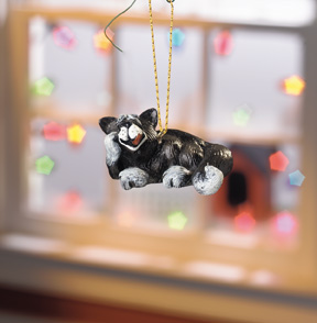 Beau the B&W Cat Beasties Ornament