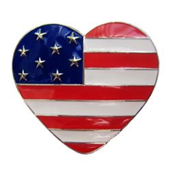 Finders Key American Flag Heart Purse Key Finder *Limited Edition*
