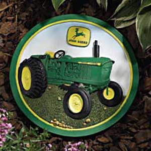 John Deere Tractor with No Roof Garden Stepping Stone