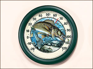 "12"" Walleye Thermometer Jon Q. Wright"