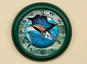 "10"" Sailfish Clock John Q. Wright"