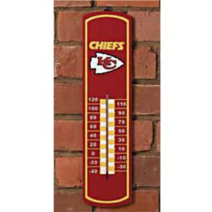 Kansas City Chiefs NFL Large Wall Thermometer