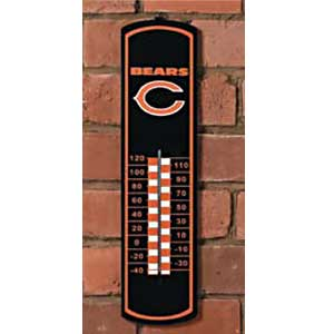 Chicago Bears NFL Large Wall Thermometer