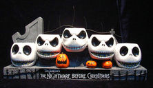 The Nightmare Before Christmas Hand Painted Resin Votive Holder
