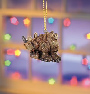 Rutherford Eth. Rhino Beasties Ornament