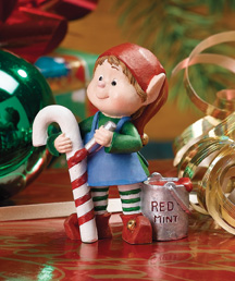 Painting Candy Cane Jingle Elves Figurine
