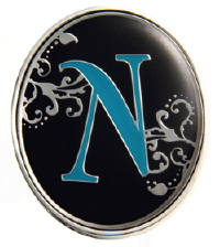 """N"" Monogrammed Key Finder - Finders Key Purse"