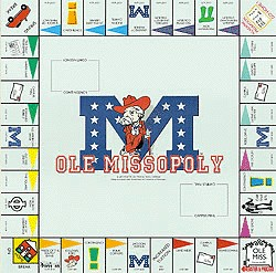 Ole MissOpoly Monopoly Style Board Game