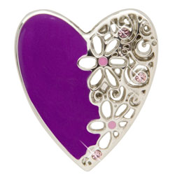 Purple Lace Heart Key Finder