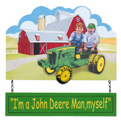 John Deere Childrens Hanging Sign