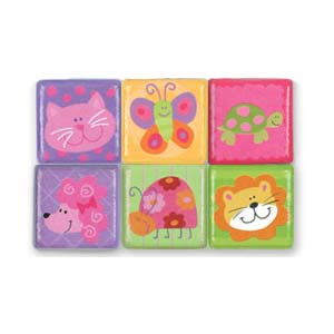 Stephen Joseph Small Talk Animal Magnets (girl)