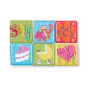 Stephen Joseph Small Talk Word Magnets (girl)-Discontinued