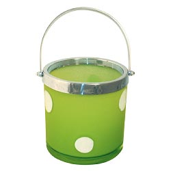 Art Glass Lime Green Ice Bucket