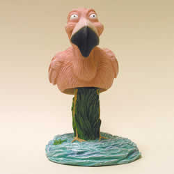 Flamingo Bobblehead Figure by Swibco