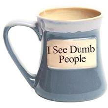 I See Dumb People Oversized Coffee Mug