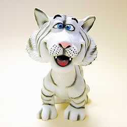 White Tiger Bobblehead by Swibco