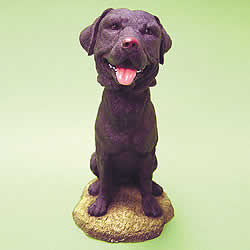 Black Labrador Bobblehead Dog