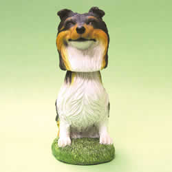 Collie Bobblehead Dog Statue