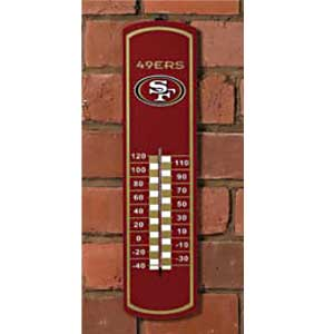 San Francisco 49ers NFL Large Wall Thermometer