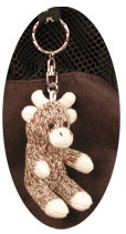 Baby Moose Keychain by Sock Monkey