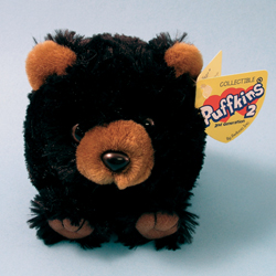 Trego Black Bear Puffkins 2 Plush