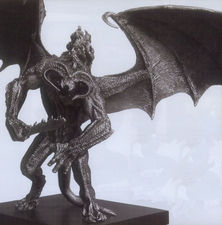 "Lord of the Rings Balrog Small 16"" wide Fine Pewter Figure"