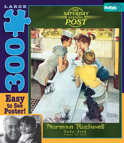 Soda Jerk Norman Rockwell: Saturday Evening Post 300 Large Piece Puzzle