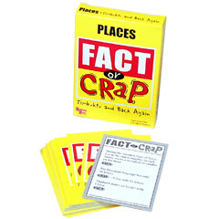 Fact or Crap Cards Places