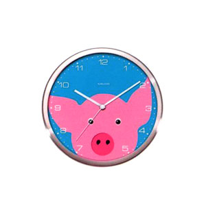 Present Time Peekaboo Pig Wall Clock