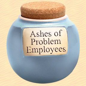 Ashes of Problem Employees Classic Word Jar