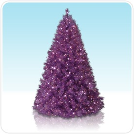 Encore Purple Pre-lit Christmas Tree