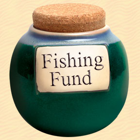 Tumbleweed Fishing Fund Classic Word Jar