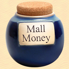 Tumbleweed Mall Money Classic Word Jar