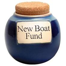 New Boat Fund Classic Word Jar