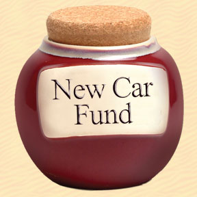 New Car Fund Classic Word Jar